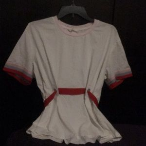 White red belted T-Shirt